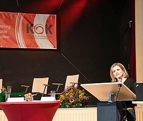 ©Maurice Ressel - EU-Koordinatorin gegen Menschenhandel bei KOK-Fachtagung
