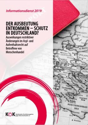"""Neuer KOK Informationsdienst: """"Der Ausbeutung entkommen - Schutz in Deutschland?"""""""